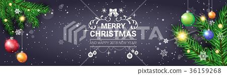 Merry Christmas Poster 2018.Merry Christmas Poster Decorative Holiday Stock