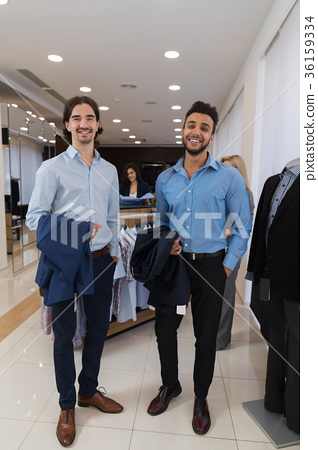 Two Happy Smiling Businessmen Wearing Elegant 36159334