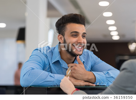 Closeup Portrait Of Happy Smiling Business Man 36159350