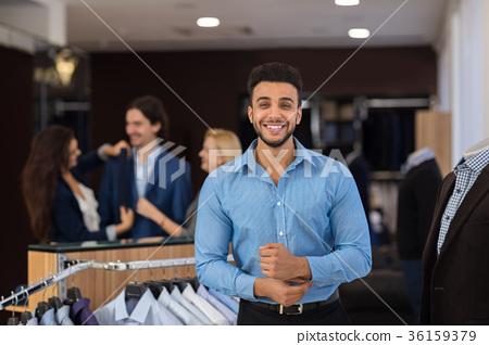 Happy Smiling Hispanic Business Man Wearing New 36159379