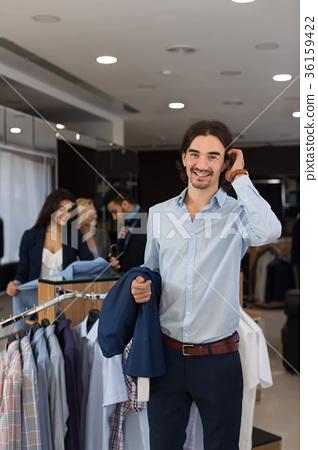 Handsome Business Man Wear Formal Suit Holding 36159422