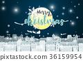 christmas, vector, greeting 36159954