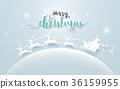 santa vector sleigh 36159955