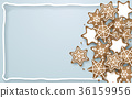 Snowflake, star, cookies shapes background 36159956