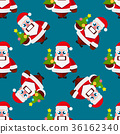 Christmas cartoon characters seamless pattern  36162340