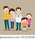 Cute Family with Baby and Doctor 36162698
