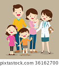 Cute Family with Baby and Woman Doctor 36162700