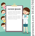 Smart female doctor and kids report 36162760