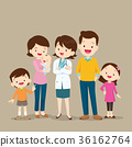 Woman Doctor and Cute Family with Baby 36162764