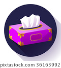 vector Tissue box flat icon 36163992