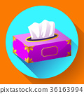 vector Tissue box flat icon 36163994
