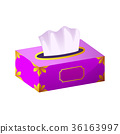 vector Tissue box flat icon 36163997