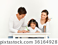Familys are drawing activities in the home. 36164928
