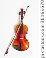 Violin in a white background 36165670