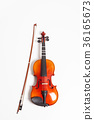 Violin in a white background 36165673
