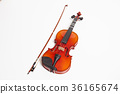 Violin in a white background 36165674