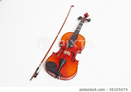 Violin in a white background 36165674