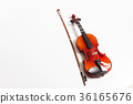 Violin in a white background 36165676