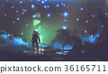 the astronaut in an alien forest 36165711