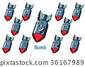 炸弹 情感 图标 36167989