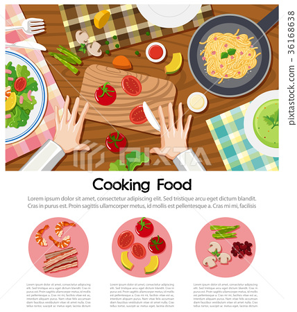 Cooking food poster 36168638