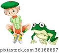 wildlife, boy, frog 36168697