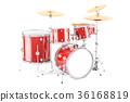 Drum kit, 3D rendering 36168819