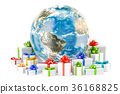 Earth Globe with presents 36168825