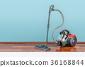 Modern vacuum cleaner indoor, 3D rendering 36168844