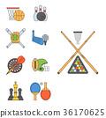 vector, sport, icon 36170625