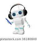3d插画 3d插图 机器人 36180840