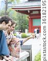 入境旅遊文化體驗花園和服 36182195