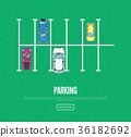 Parking zone poster in flat style 36182692