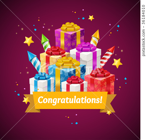 Congratulations Greeting Card Concept. Vector 36184010