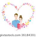 在心臟框架的夫婦 36184301
