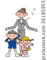 신입학 어린이와 엄마. 36185955
