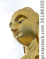 golden bhudda, isolated on white background. 36186305