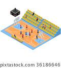 Basketball Field and Tribune 3d Isometric View 36186646