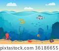 卡通 场景 水下 36186655