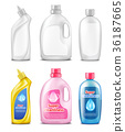 Plastic bottles for cleaning products 36187665
