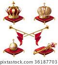 crown, vector, trumpet 36187703