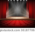 stage, curtain, seat 36187706