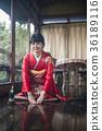 Kimono woman greeting 36189116
