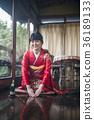 Kimono woman greeting 36189133