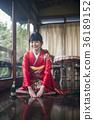 Kimono woman greeting 36189152