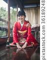 Kimono woman greeting 36189248