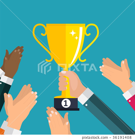 Flat. Applause. Hands clapping. Vector 36191408