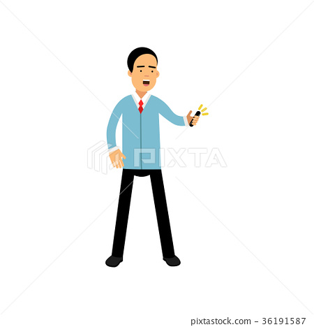 Man in a formal wear standing with smartphone, man 36191587