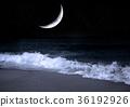 moon in the night sky 36192926