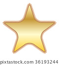 gold star in rope 36193244